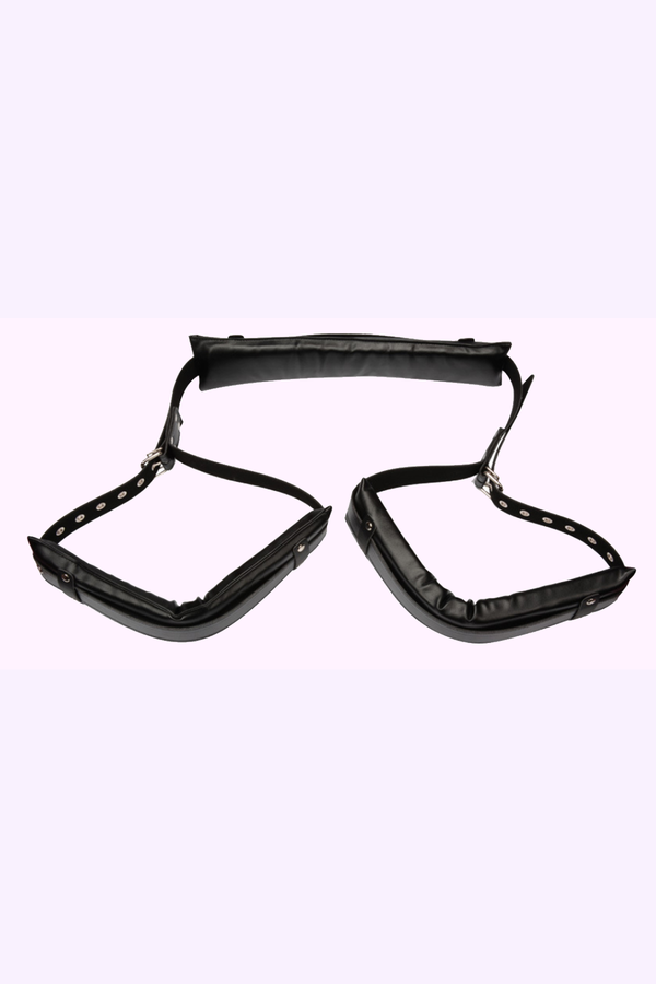 Dom and Sub Play Accessories. Thigh Cuff Restraints for Kink and Bondage Play.