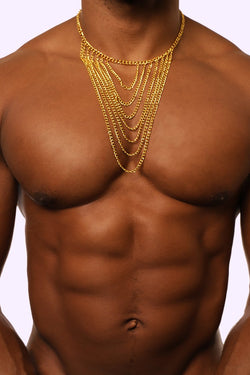 Gold Chain. Gold Chain with Clamps. Men's Gold Chain. Men's Accessory. Men's Necklace. Men's Gold Chain Necklace.