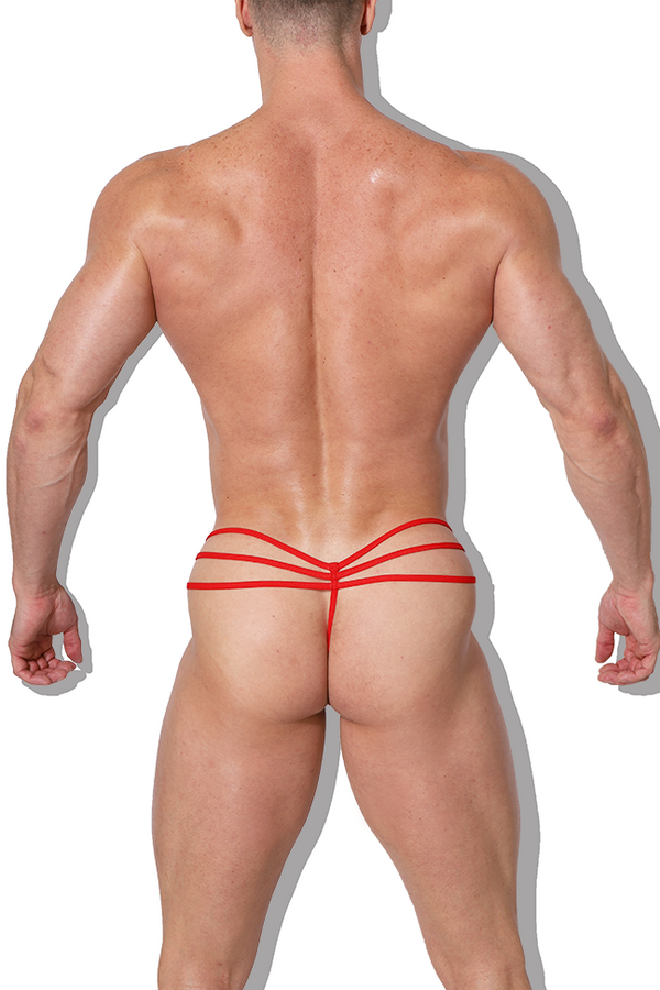 Obsessed Lace Thong - Red