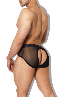 Privacy Mesh Briefs - Black