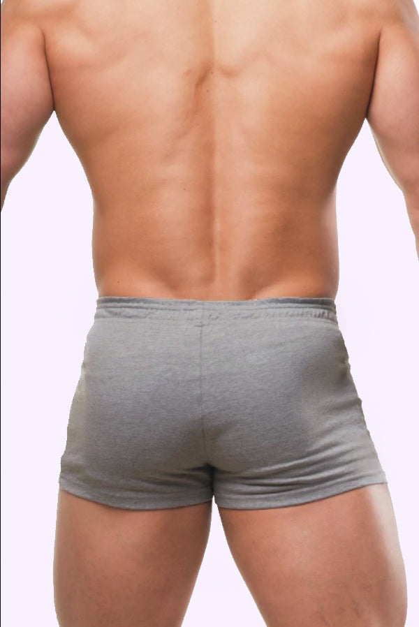 Varsity Short Shorts  - Light Grey - J.J. Malibu