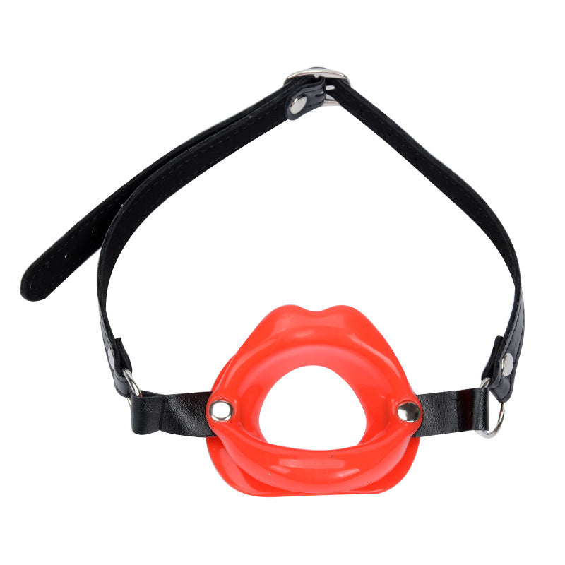 BDSM Fetish Open Mouth Gag with Lips | Mouth Restraint for Kinky Sex . Fast and Discreet Shipping Available.