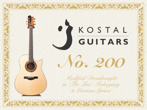 Kostal No 200 Modified Dreadnought Acoustic Guitar
