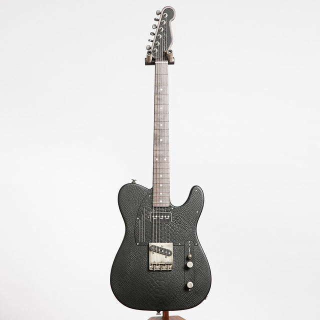 James Trussart SteelCaster Electric Guitar, Black Snake Skin Engraved