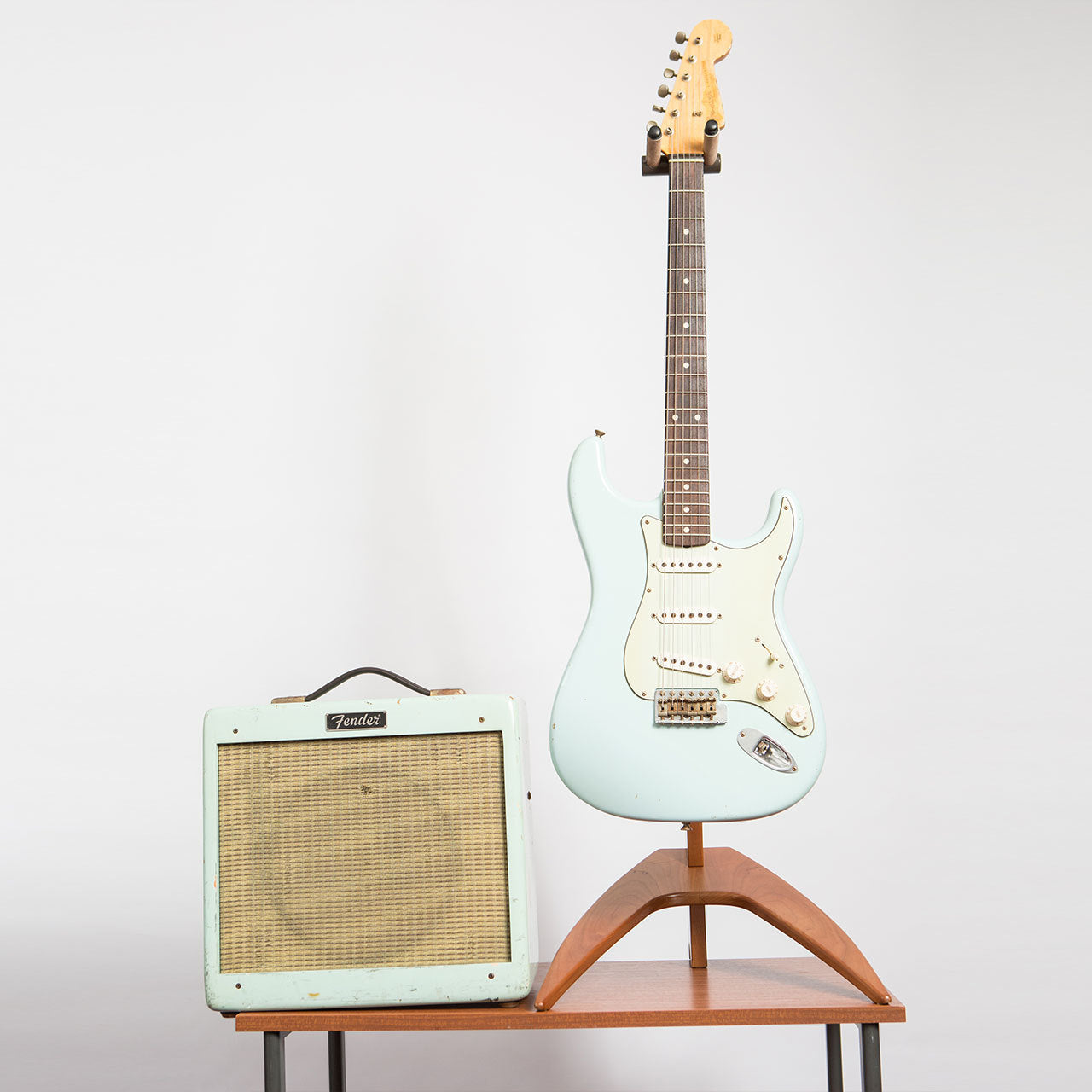 Fender Custom Shop Stratocaster And Pro Jr Set In Sonic Blue The