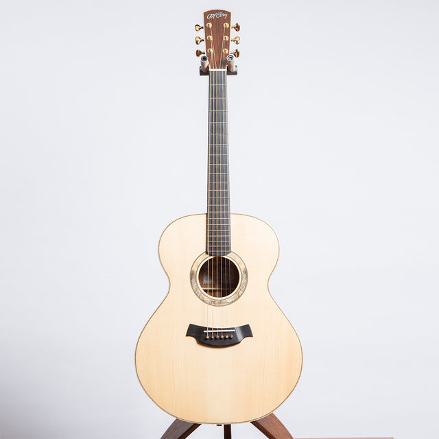 Pre Owned McElroy Generation 1 Standard Non Cut Away Tasmanian Black Wood Adirondack Spruce