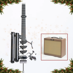 Advent Calendar Day 10: Teuffel Black Birdfish Custom Electric Guitar + Free Victoria Victoriette Amp Worth £2,750