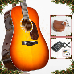 Advent Calendar Day 4: Santa Cruz D, Mahogany & Italian Spruce + Elliott Elite Capo & TonewoodAmp Bundle