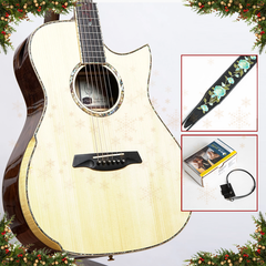 Advent Calendar Day 5: Maestro Private Collection Victoria CO CSB AX, Cocobolo & Adirondack Spruce + Free K&K Pure Mini & Strap