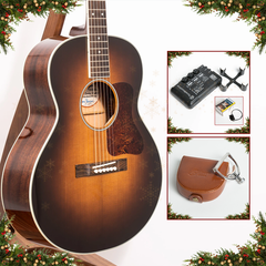 Advent Calendar Day 7: Bourgeois Small Jumbo Ltd Custom AT Acoustic Guitar + Elliott Elite Capo Bundle, K&K Pure Mini & TonewoodAmp