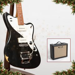Advent Calendar Day 8: Bunting Melody Queen Electric Guitar, Tuxedo Black + Free Cornell Traveller 5