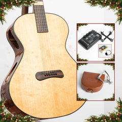 Advent Calendar Day 9: Skytop Auditorium Acoustic Guitar, Quilted Sapele & Pillow-Quilt Sitka Spruce + Free Accessories Bundle