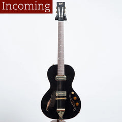 B&G Little Sister Private Build Electric Guitar, Non-Cutaway, Black Widow, P90s