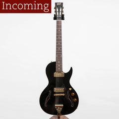 B&G Little Sister Private Build Electric Guitar, Cutaway, Black Widow, P90s