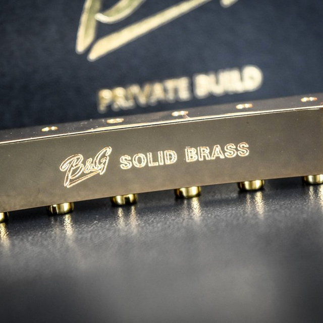 B&G Solid Brass ABR Bridge, Natural Finish