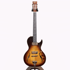 B&G Guitars Little Sister Crossroads Cutaway Electric Guitar, Tobacco Burst