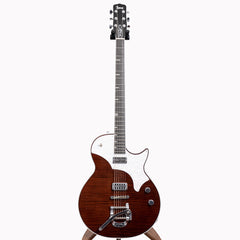 TV Jones Spectra Sonic C Melody Baritone Electric Guitar, Deep Walnut #249