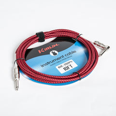 Kirlin 10ft Fabric Instrument Cable - Red