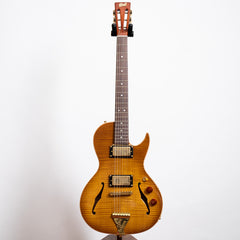 B&G Guitars Little Sister Crossroads 5A Cutaway Electric Guitar, Humbuckers #262 Honey Burst