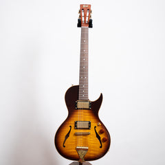 B&G Guitars Little Sister Crossroads Cutaway Electric Guitar, Tobacco Burst, Humbuckers #420