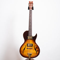 B&G Guitars Little Sister Crossroads Cutaway Electric Guitar, Tobacco Burst, Humbuckers #195
