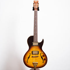 B&G Guitars Little Sister Crossroads Cutaway Electric Guitar, Tobacco Burst, Humbuckers #122