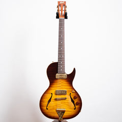 B&G Guitars Little Sister Crossroads Cutaway Electric Guitar, Tobacco Burst #070