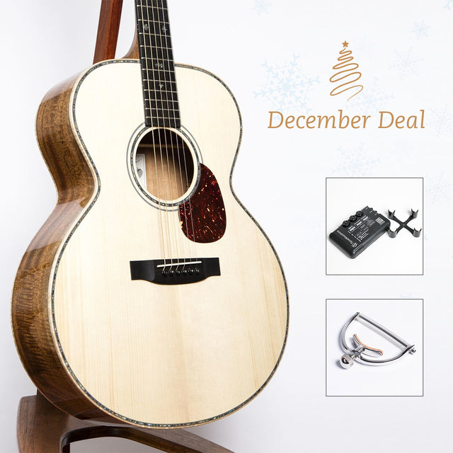December Deal: Froggy Bottom K Limited Electro-Acoustic Guitar (Pre-Owned) + Tonewood Amp + Elliott Elite Capo