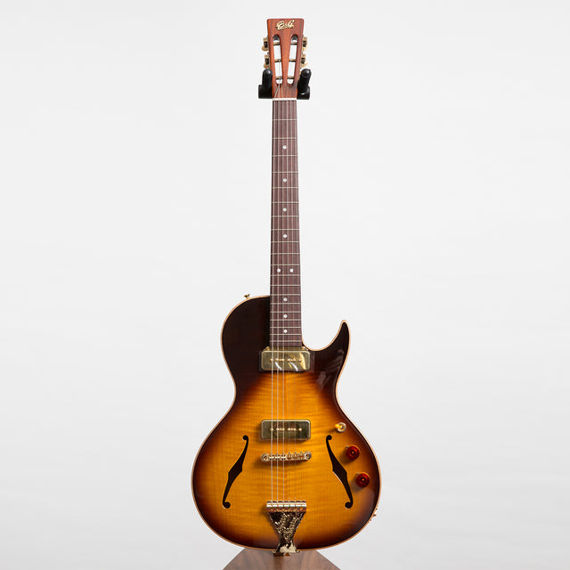 B&G Guitars Little Sister Crossroads Cutaway Electric Guitar, Tobacco Burst #145