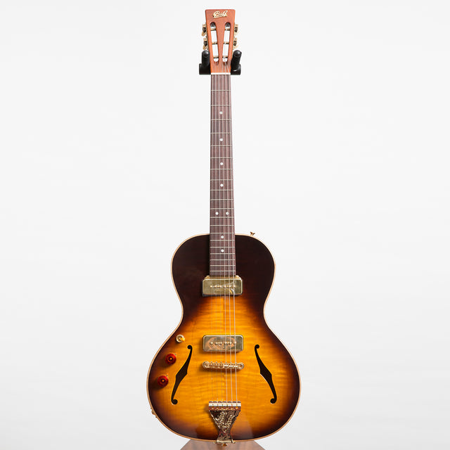B&G Guitars Little Sister Crossroads Non Cutaway Electric Guitar, Tobacco Burst - Left Handed #316