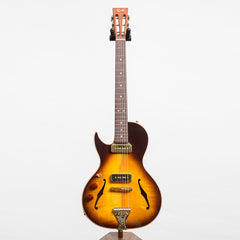 B&G Guitars Little Sister Crossroads Cutaway Electric Guitar, Tobacco Burst - Left Handed #108