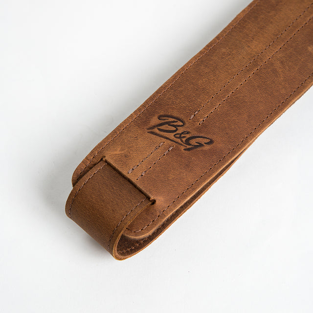 B&G Handmade Leather Guitar Strap