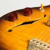 B&G Guitars Little Sister Crossroads Cutaway Electric Guitar, Tobacco Burst - Left Handed #049
