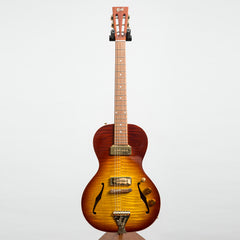 B&G Little Sister Private Build Electric Guitar, Non-Cutaway, Tobacco Burst, P90s #673