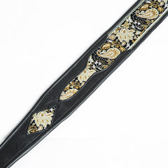 Jodi Head Guitar Wear - Paisley Brocade, Black Guitar Strap