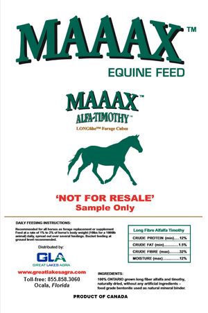 SAMPLE - USA - MAAAX Alfalfa/Timothy Hay Cubes - 1lb