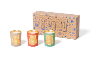 Odeurs D'Egypte Scented Candles - Set of 3