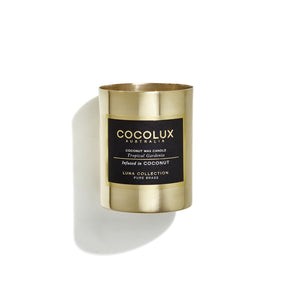 Brass Candle: Tropical Gardenia