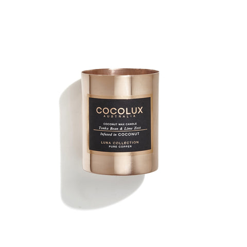 Copper Candle: Tonka Bean & Lime Zest