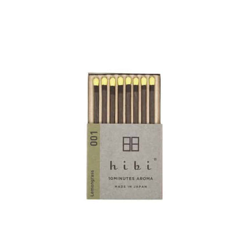 Scent Lounge Hibi Incense Matches Lemongrass Front