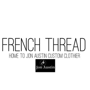French Thread and Jon Austin Custom Clothier logo and branding