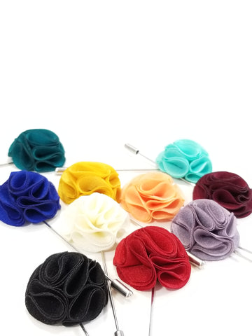Silk Flower Pin - French Thread