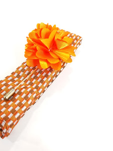 Large Flower Pin/Square Sets - French Thread