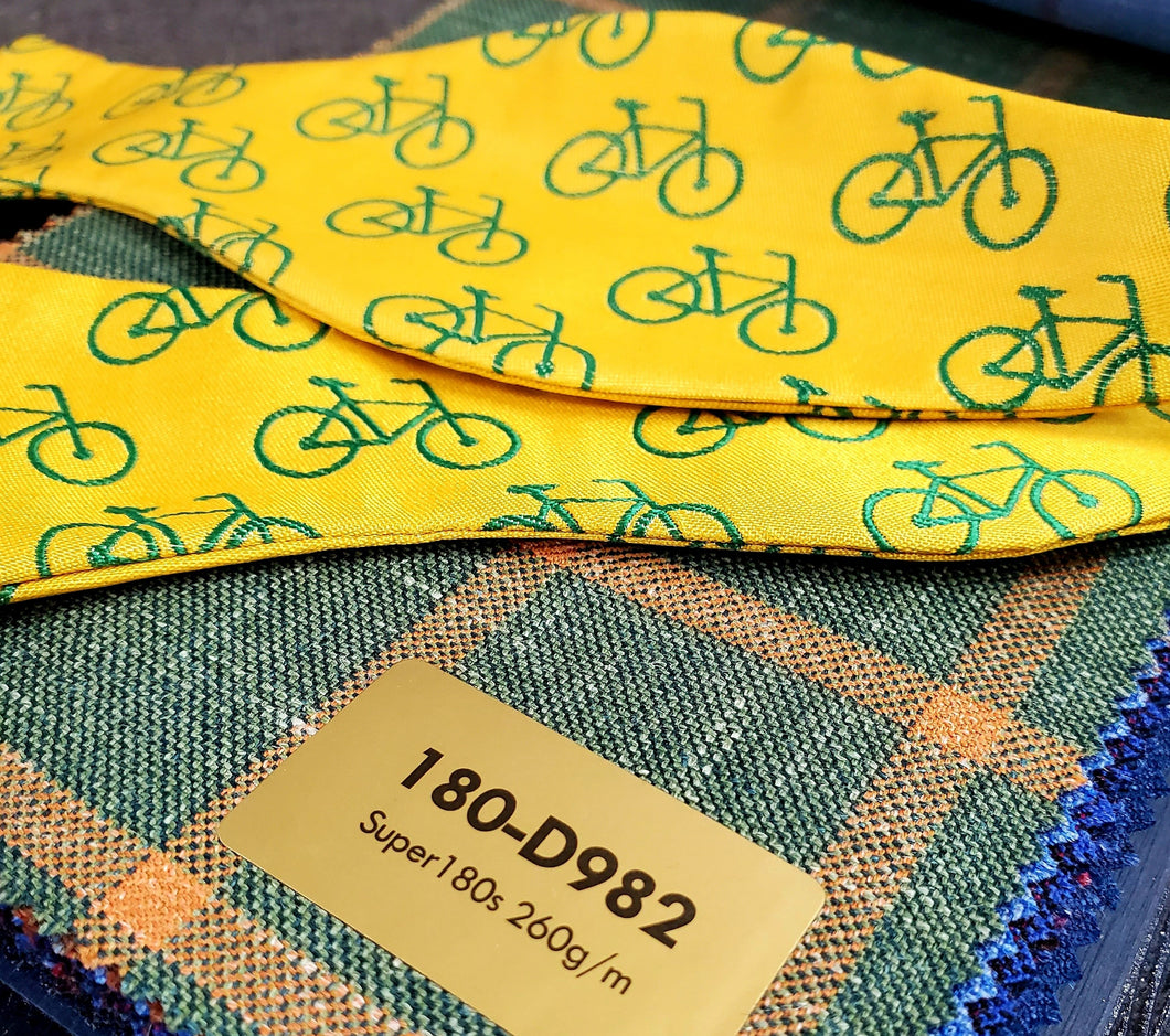 Yellow Bicycle Bow Tie - French Thread