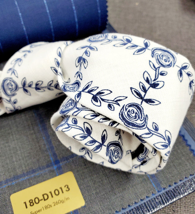 Blue Floral Ivy - French Thread
