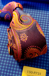 Deep Purple Paisley - French Thread