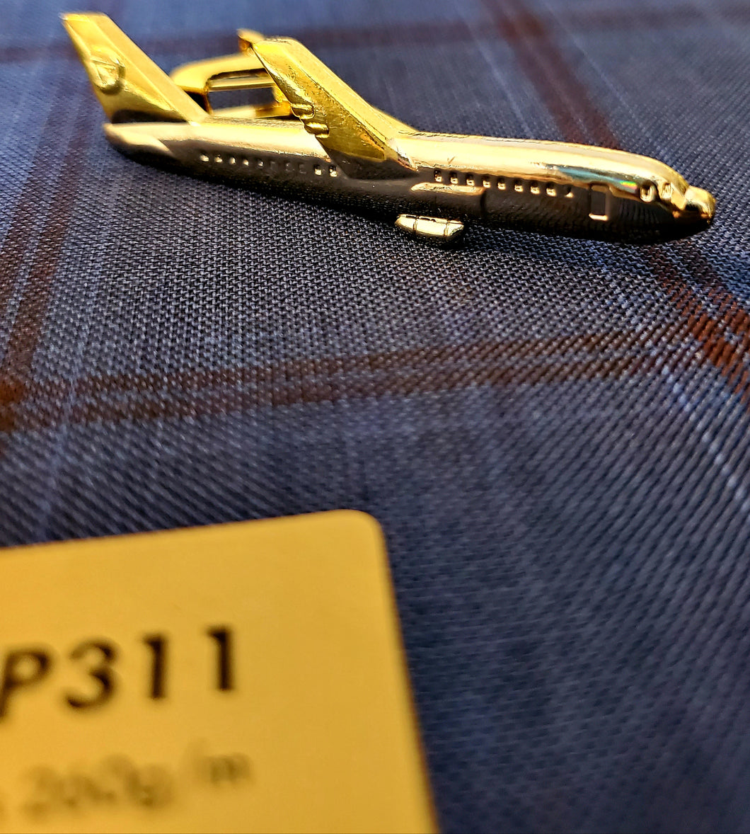 Airplane Tie Clip - French Thread