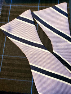 Navy Stripe Bow Tie - French Thread