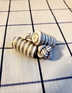 Cloth Knott Cufflinks - French Thread
