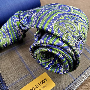 Classic Green & Blue Paisley - French Thread